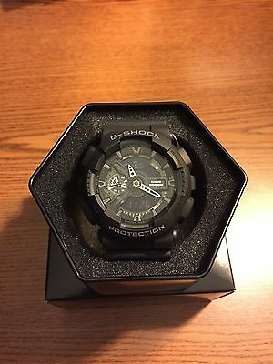 BRAND NEW CASIO G SHOCK GA110-1B MEN'S X LARGE BLACK WATCH NWT!!!