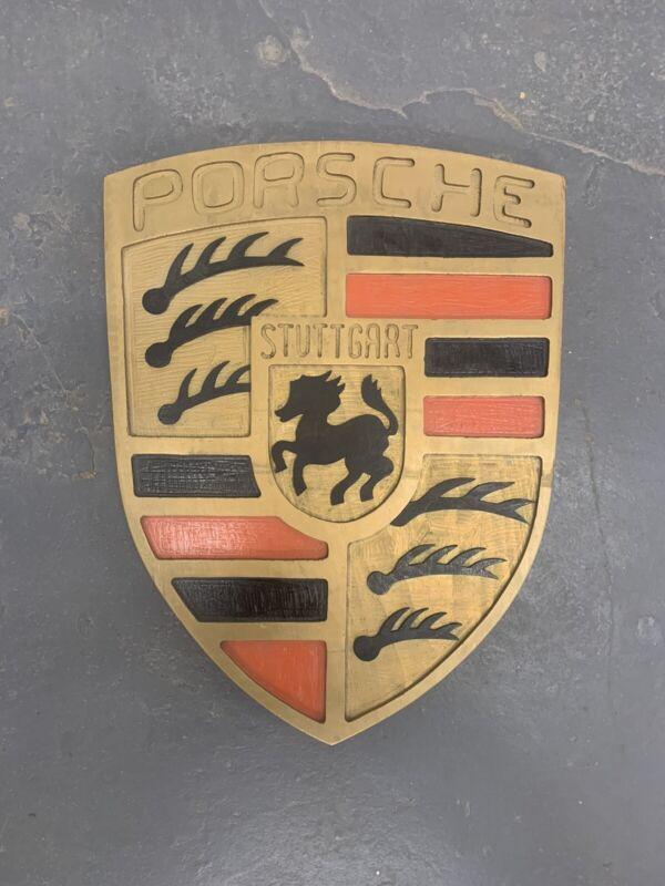 Porsche Dealership ShowRoom Sign.  Dealer Wood Carved Hand painted Rare 911