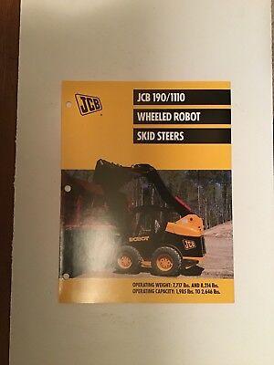 Jcb Skid Steer Models 1901110 Loader Sales Literature Specifications.