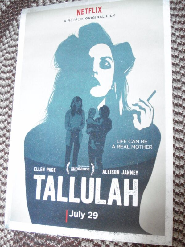 TALLULAH (2016) Ellen Page and Allison Janney Original DS One-Sheet Poster!