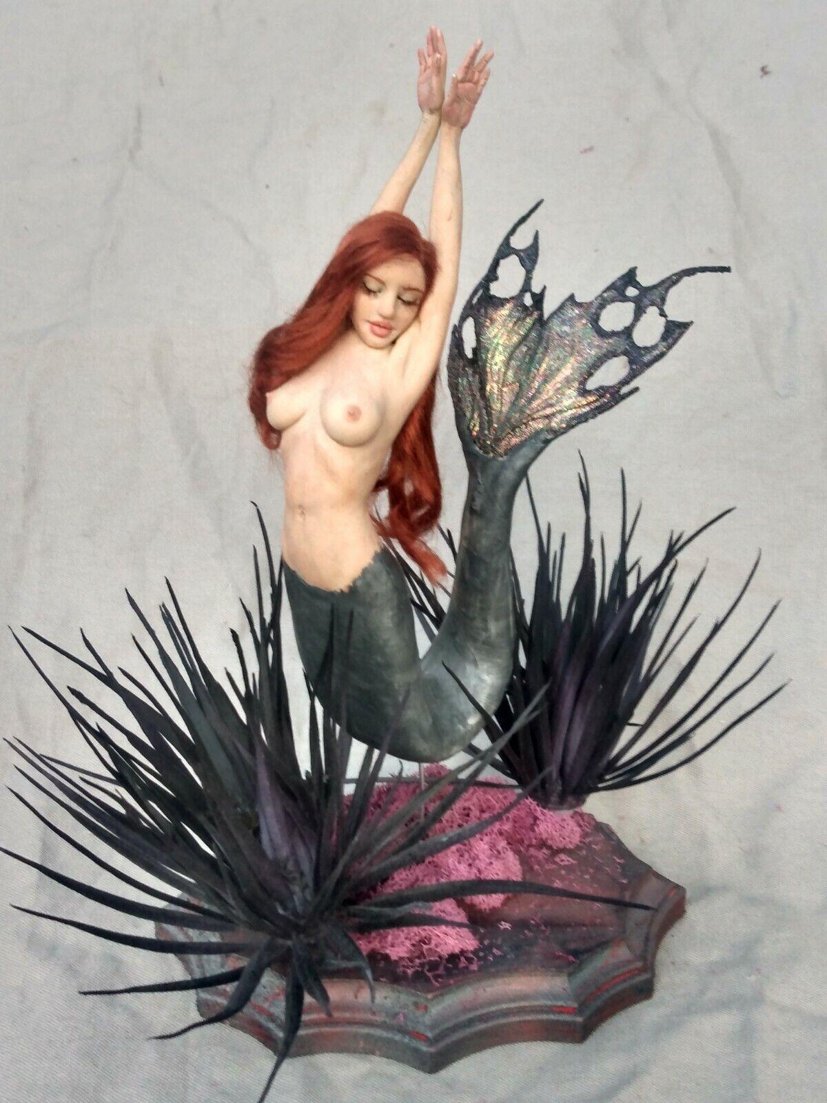 Ooak Fairy Pin-up Mermaid Art Doll Lady Woman Handmade Melissa Drapeau - $500.00