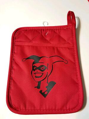 Red Harley Quinn Pot Holder - DC Superhero - Great Gift Idea!! - Kitchen - Superhero Decoration Ideas