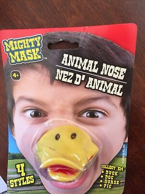 (New) Mighty Mask Animal Nose Soft Rubber Mask Child Costume ( Duck )