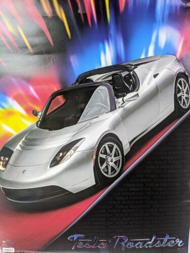 Tesla Silver Roadster Poster