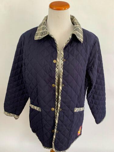 5/A Baker Navy blue Barn Jacket Coat Amberhill EUC Warm Quilted Equestrian M