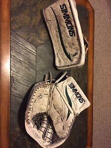 Simmons Adult size goalie gloves