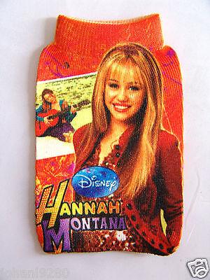 Hannah Montana elastische gsm-, mp 3 / 4- ... - houder / hoesje 7 x 11 cm