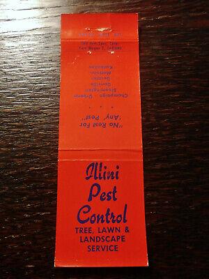 Vintage Matchcover: Illini Pest Control & Landscaping Nail Kit, Champaign, IL VV