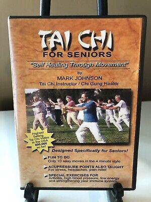 Tai Chi For Seniors (DVD) By Mark Johnson. Ships 1st Class