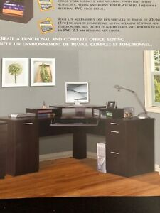 Large executive corner desk with storage