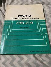 1989 Toyota Celica Electrical Wiring Diagram | eBay