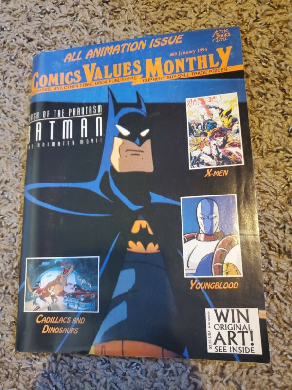 Comics Values Monthly #89 January 1994 Batman The Animated Movie Poster Intact
