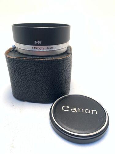 Canon 60mm lens shade S-60 for older FL lenses  (F026)