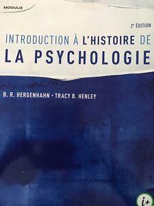 Introduction à l'histoire de la psychologie