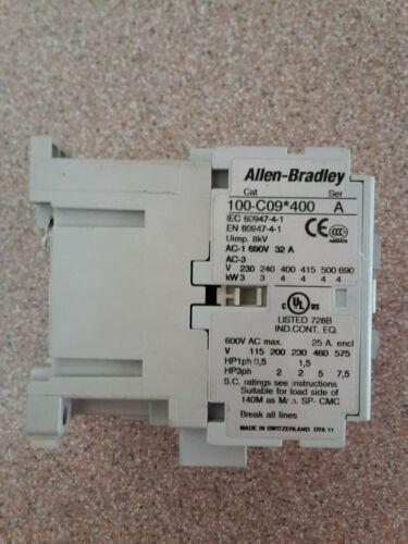 ALLEN BRADLEY CONTACTOR 100-C09*400 SER. A