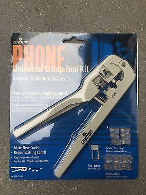 Leviton 831-c0260-i Phone Wire Handset Cord Crimping Tool New