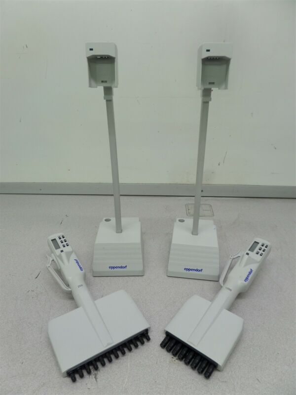 Eppendorf Pipette 200 & 1200 Dispensing Electric Pipette w/ Charging Bases