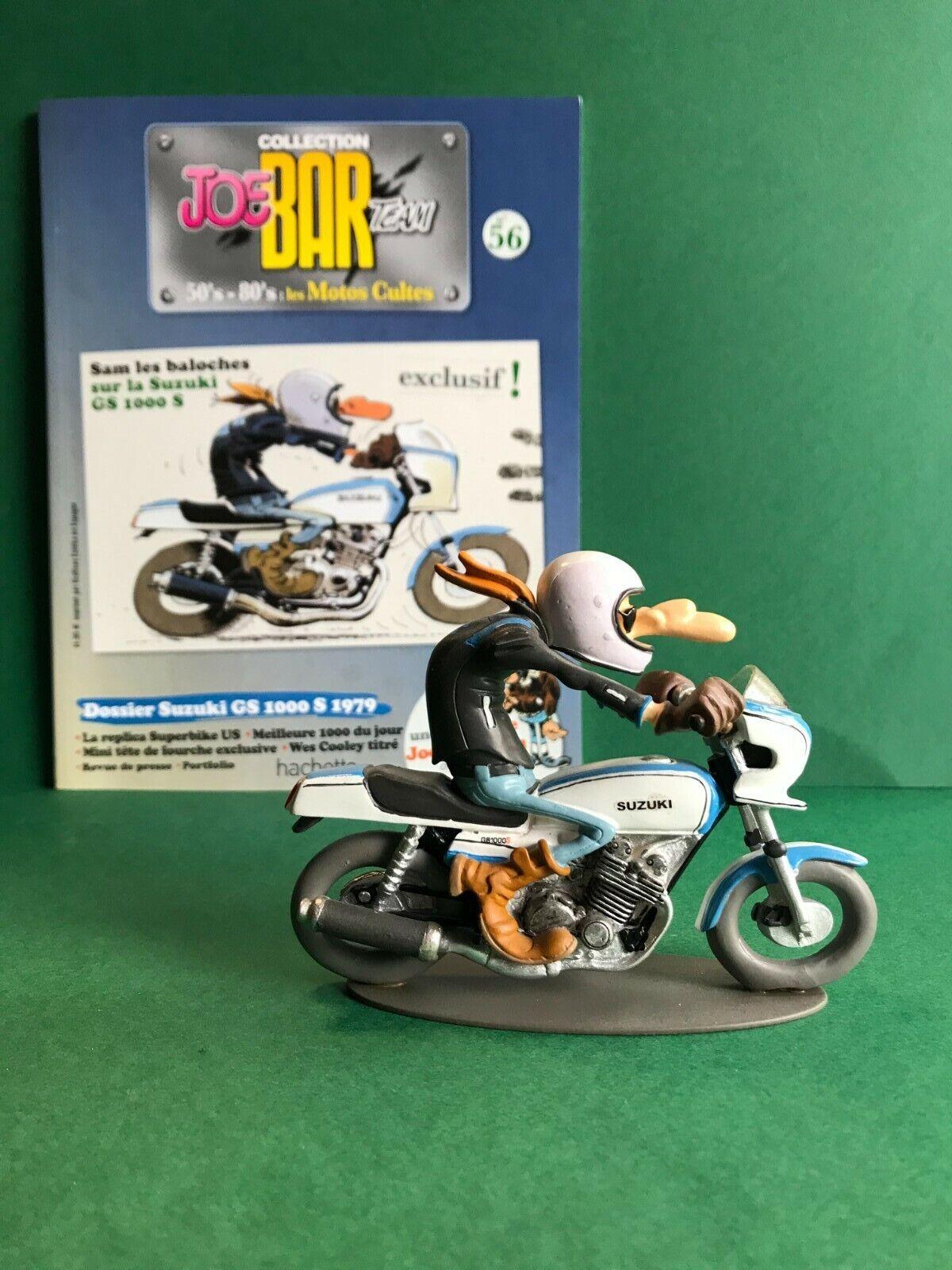 Figurine joe bar team & livret moto suzuki gs 1000 s