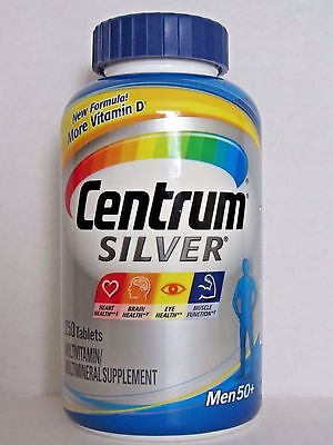 Centrum Silver Multivitamin Multimineral Supplement for MEN 50+, 250 Tablets