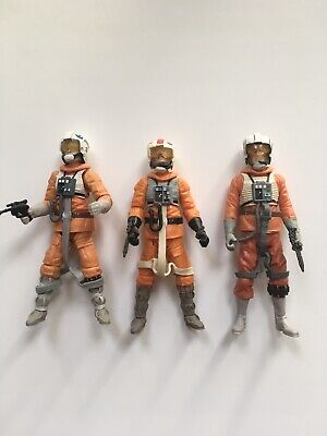 "Star Wars Rebel Pilots X3 3.75"" Action Figures Loose Complete"