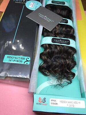 """IndiRemi® Virgin Remi Hair Weave_FRENCH_WAVE_WEAVING_14""""_#P1B/30 Indi Remi French Wave"""