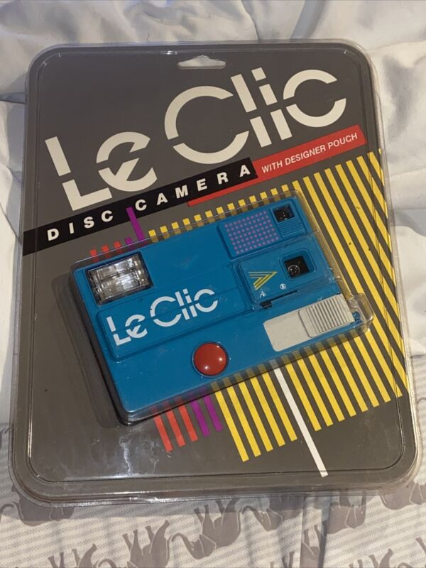 Vtg Turquoise Le Clic Disc Camera W Designer Pouch NEW SEALED PACKAGE RETRO