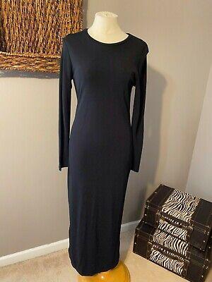 Ralph Lauren Black Long Sleeve Smooth Maxi Dress S Small 2 4 6