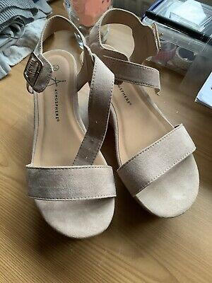 Ladies Atmosphere Size 3 Nude Platform Sandle Shoes