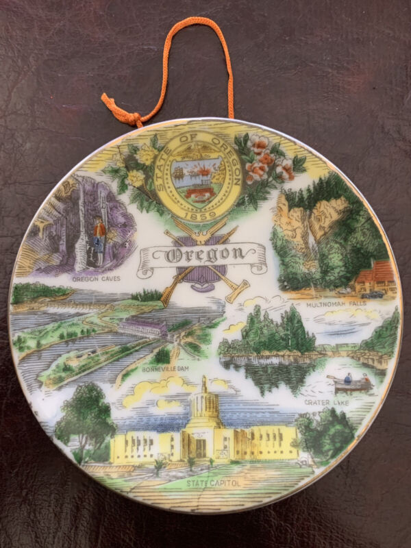 "Palram Oregan Vintage Souvenir Plate 3.5"" Dia"