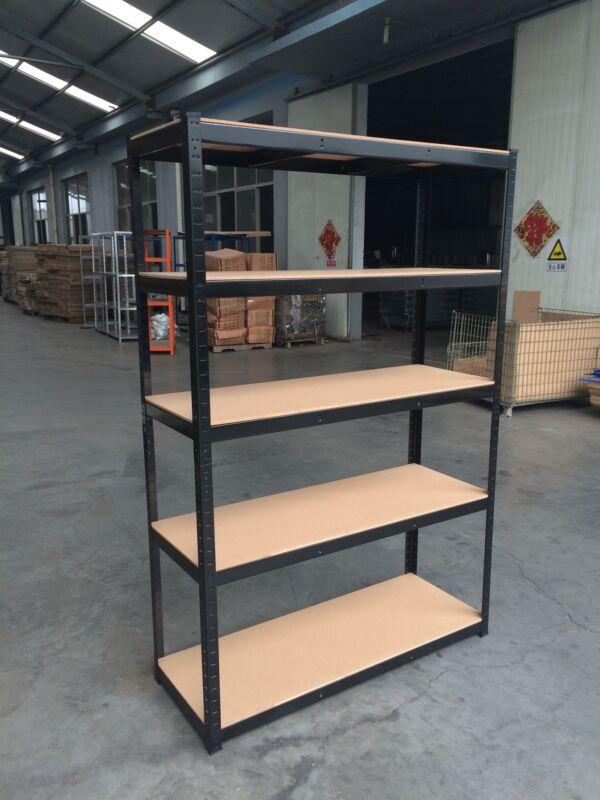 5 Shelf Steel Storage Shelving Heavy Duty Garage Organizer Adjustable Shelves