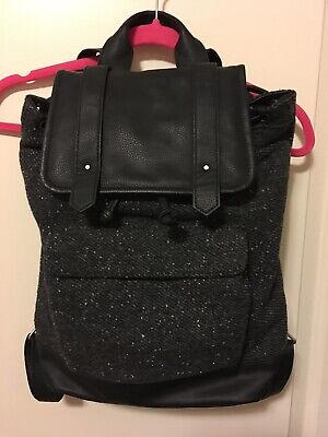 Abercrombie Fitch Black/Gray Backpack Purse EUC