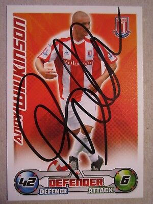 hand signed - Andy Wilkinson of Stoke City on a 2008/9 Match Attax card
