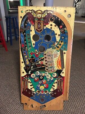 BALLY EIGHT BALL DELUXE Pinball Playfield, used, stripped and cleaned.