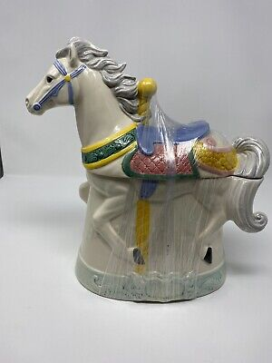 "Rare Vintage (1991)Carousel Horse Ceramic Cookie Jar.Large-12"" x 6"" x 12"" tall."