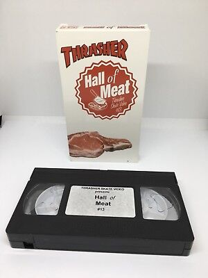 Thrasher 'Hall Of Meat' Skate Video 13 VHS PAL RARE