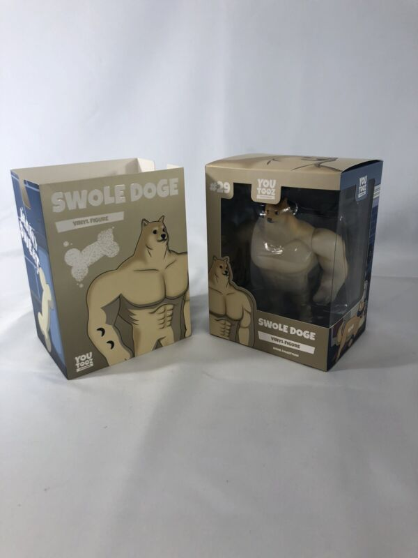 Meme Collection Vinyl Toy Figure #29 SWOLE DOGE by Youtooz much WOW!