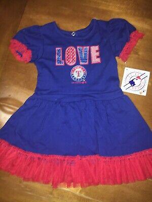 Baseball Girl Costumes (sz 2t TEXAS RANGERS LOVE GIRL'S BASEBALL Cheer UNIFORM DRESS Costume NWT)