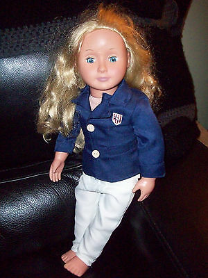 """Our Generation 18"""" Doll By Battat Long Blond Hair, Blue Eyes 18"""" Horse Riding"""