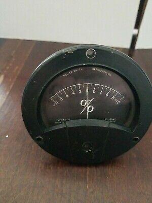 Vintage Roller-smith D.c. Percentage Ma Change Panel Gauge Type Tdhrg