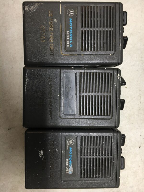 Lot of 3 Motorola Minitor II Minitor 2 VHF 154 pagers