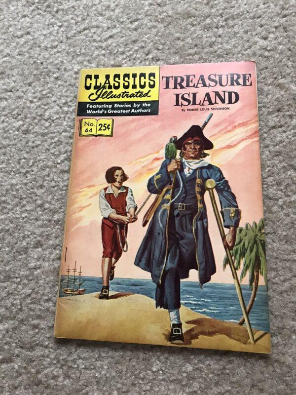 CLASSICS ILLUSTRATED TREASURE ISLAND # 64 COMIC 1969
