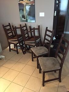 Dining room chairs, 6
