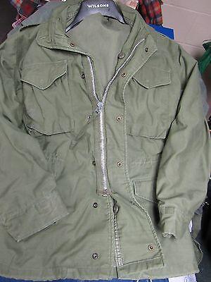 US Army M-65 Vintage Military Field Jacket size SMALL REGULAR Vietnam era 1968