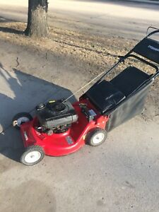 4hp rear bag lawnmower