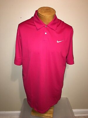 NWT Nike Golf Tiger Woods Collection Dri Fit Polo Shirt Men's Sz M