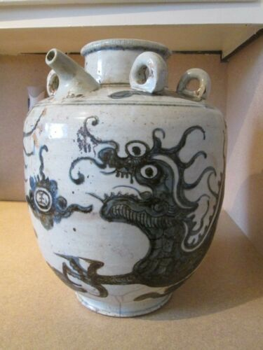 Qing Blue and White Chinese  Porcelain Pot