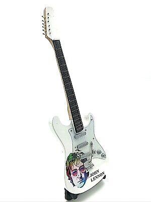 Miniature Fender Standard Stratocaster Guitar - John Lennon (Ornamental)
