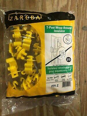 Zareba Electric Fence Wrap Around T-post Insulators Pack Of 25