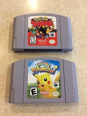 Nintendo 64 Pokemon Games Snap Pikachu N64
