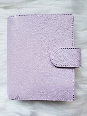 Lilac Planner A7 Pocket Rings Agenda Leather Organizer Notebook Lavender Purple